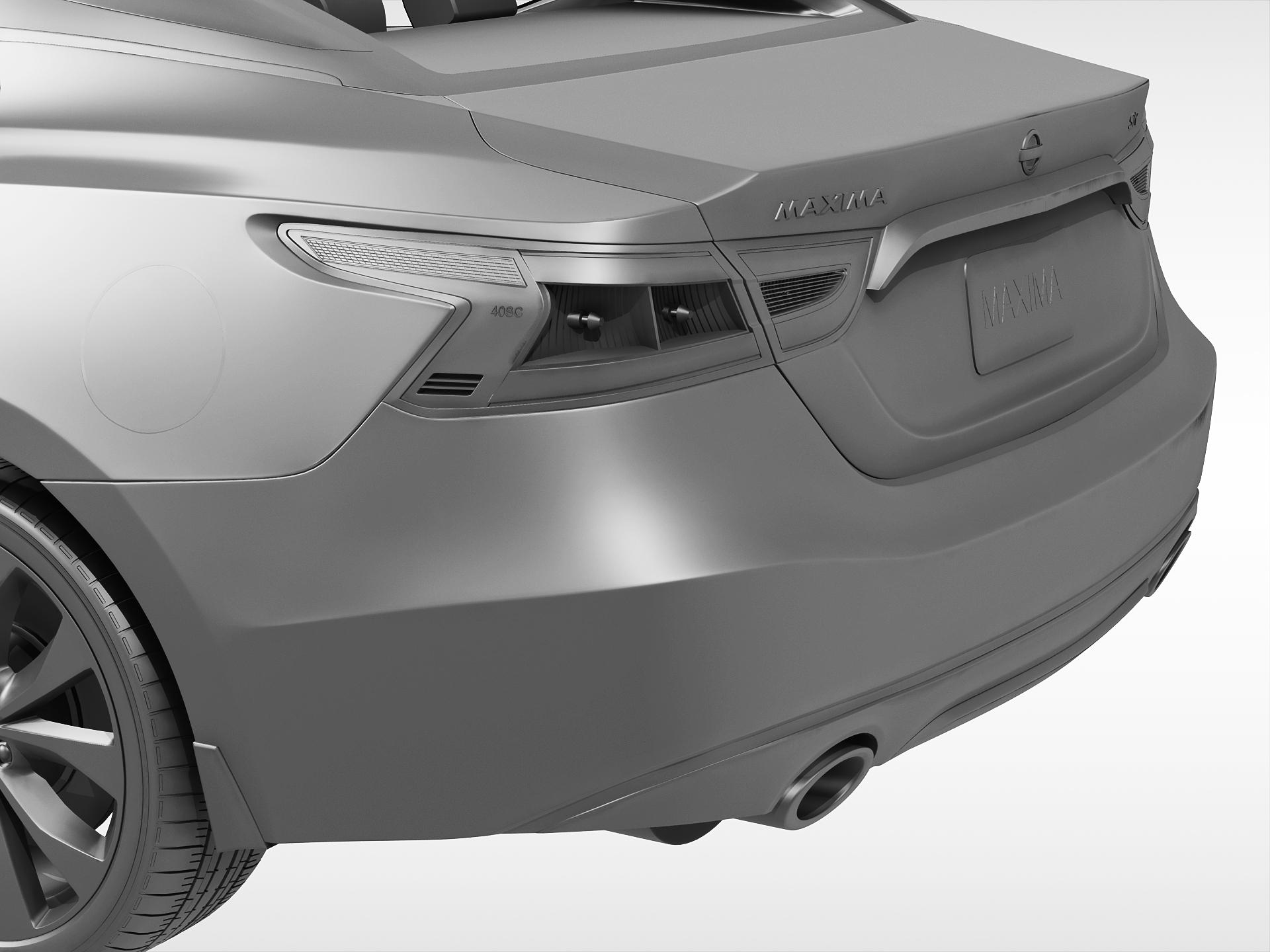 nissan maxima 2016 3d model vehicles 3d models auto 3ds max fbx obj ar vr. Black Bedroom Furniture Sets. Home Design Ideas