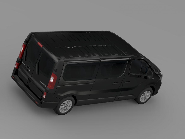 renault trafic minibus l2h1 2015 3d model 3ds max fbx c4d
