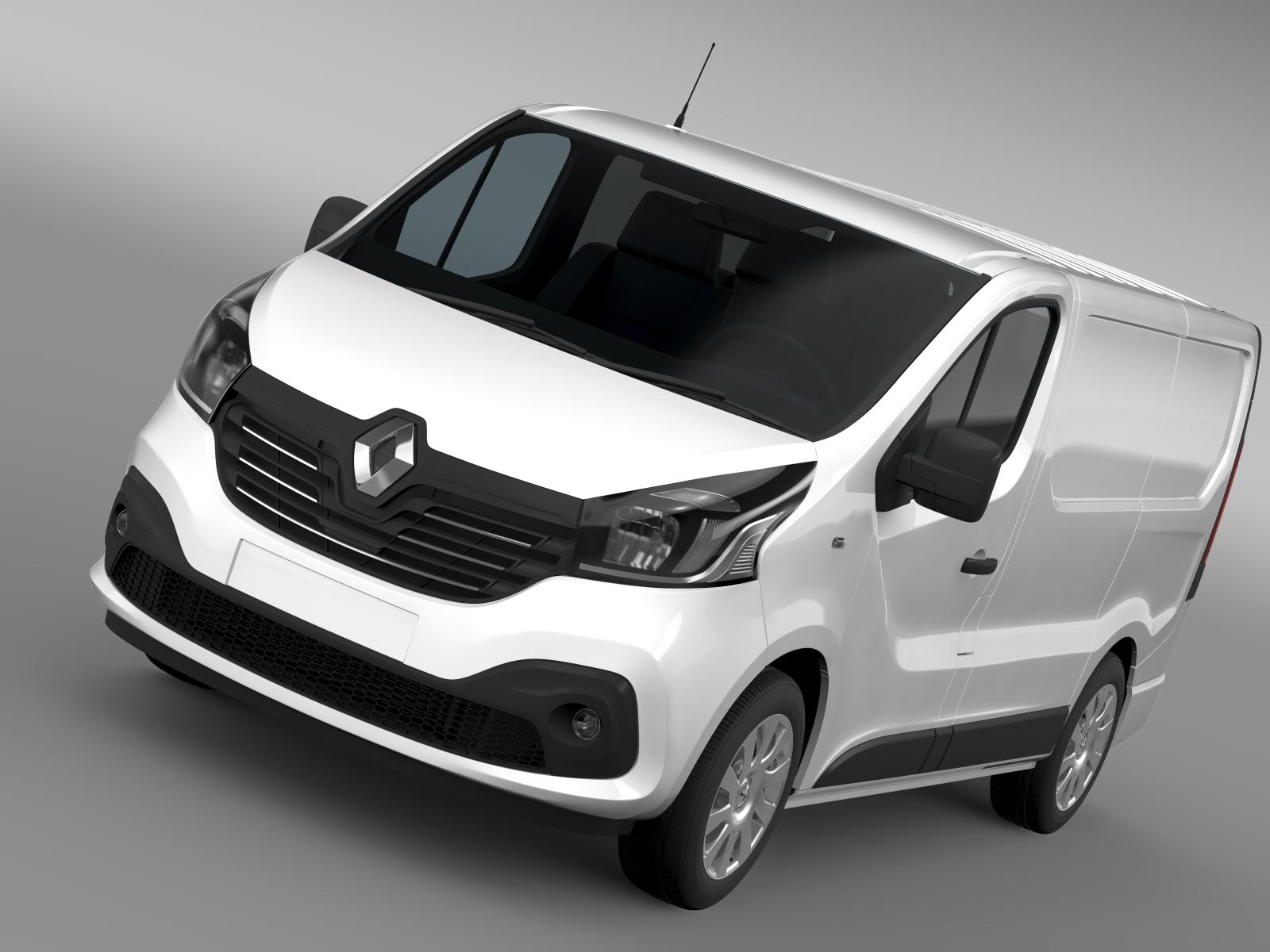 renault trafic furgons 2015 3d modelis 3ds maks.