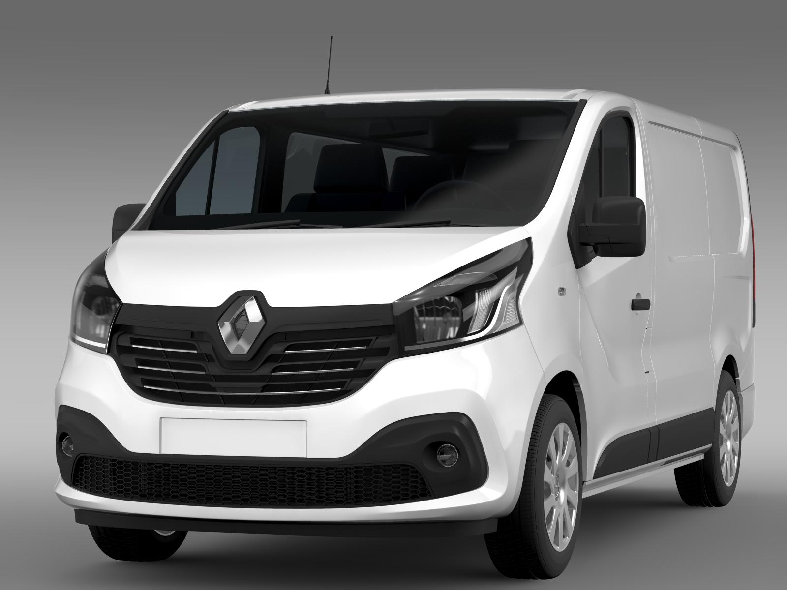 Renault Trafic Van 2015 3D Model  Renault Trafic ...
