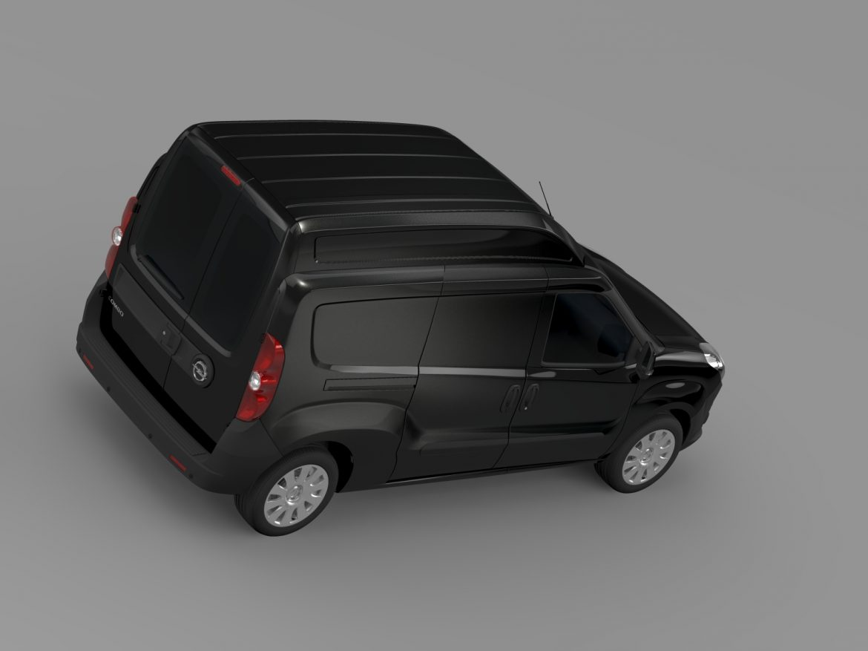 opel combo lwb high roof cargo (d) 2015 3d model 3ds max fbx c4d lwo ma mb hrc xsi obj 214364
