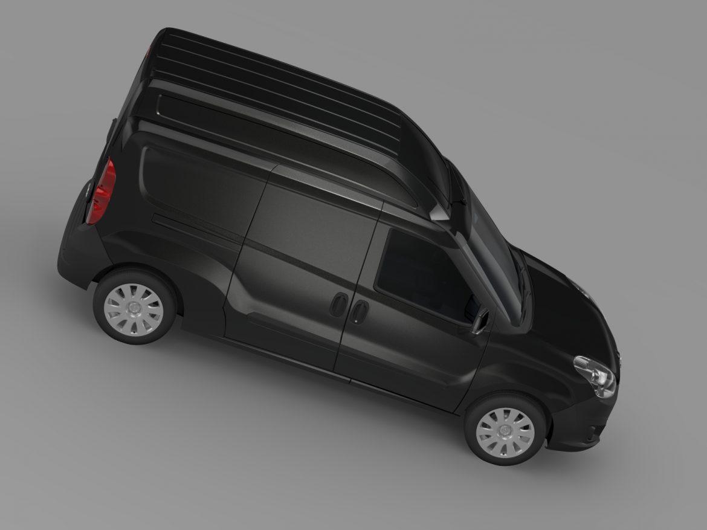 opel combo lwb high roof cargo (d) 2015 3d model 3ds max fbx c4d lwo ma mb hrc xsi obj 214365