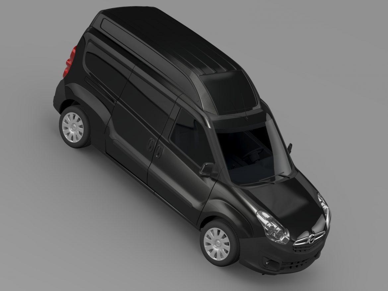 opel combo lwb high roof cargo (d) 2015 3d model 3ds max fbx c4d lwo ma mb hrc xsi obj 214366