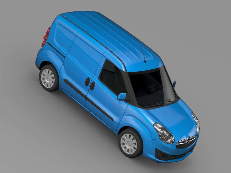 opel combo swb cargo 2015 (d) 3d model 3ds max fbx c4d lwo ma mb hrc xsi obj 214386