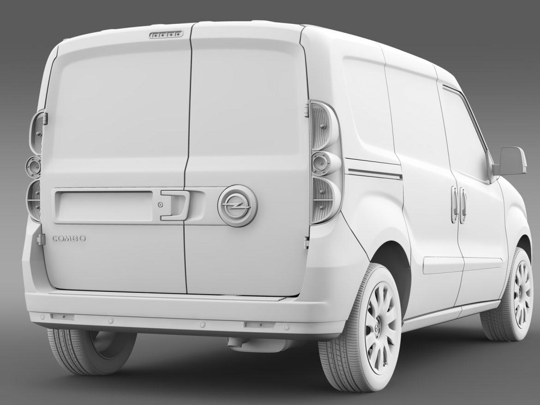 opel combo swb cargo 2015 (d) 3d model 3ds max fbx c4d lwo ma mb hrc xsi obj 214390