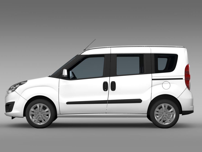 opel combo tour ecoflex (d) 2015 3d model 3ds max fbx c4d lwo ma mb hrc xsi obj 214420