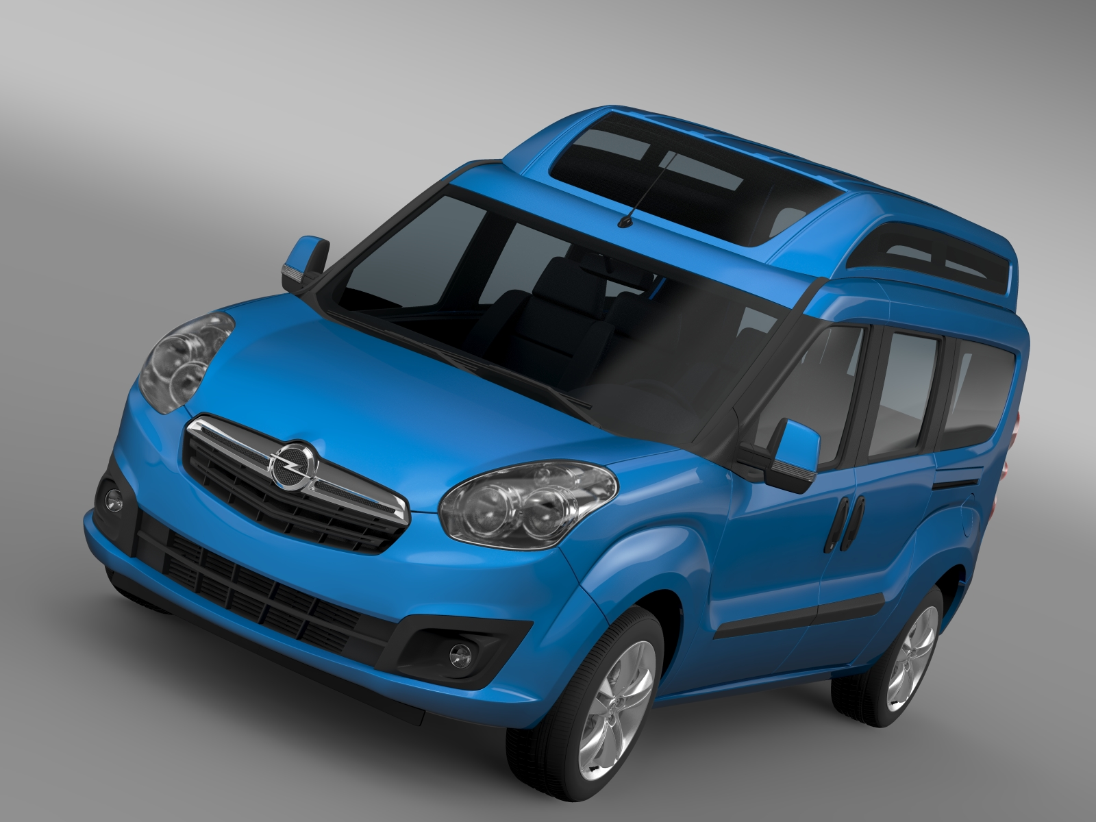 opel combo tour high roof lwb (d) 2015 3d model 3ds max fbx c4d lwo ma mb hrc xsi obj 214433