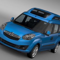 Opel Combo Tour High Roof LWB (D) 2015 3d model 3ds max fbx c4d lwo lws lw ma mb  obj