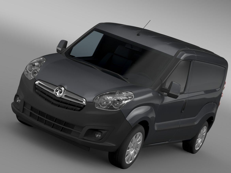 vauxhall combo h1l2 cargo 2015 3d model 3ds max fbx lwo ma mb hrc xsi obj 214493