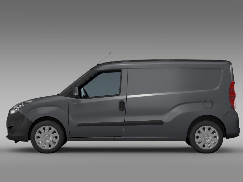 vauxhall combo h1l2 cargo 2015 3d model 3ds max fbx lwo ma mb hrc xsi obj 214498