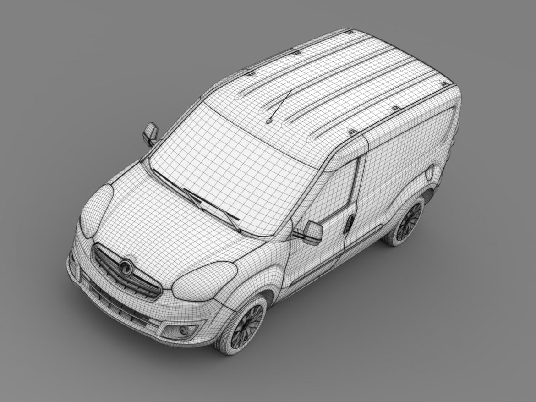 vauxhall combo h1l2 cargo 2015 3d model 3ds max fbx lwo ma mb hrc xsi obj 214509