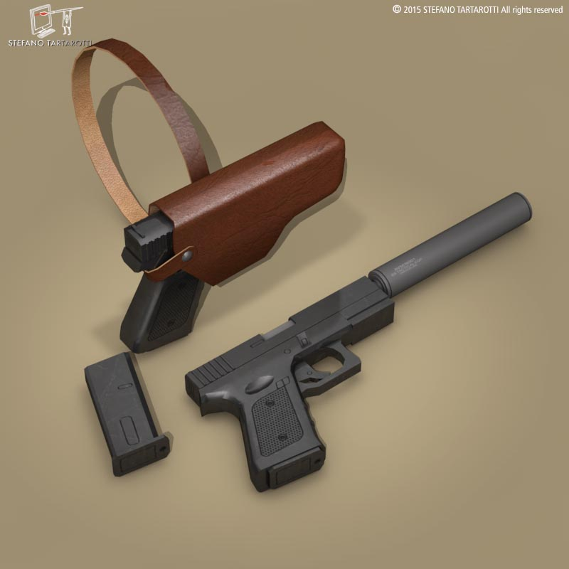 9mm model llaw 3d 3ds dxf fbx c4d dae obj 214621
