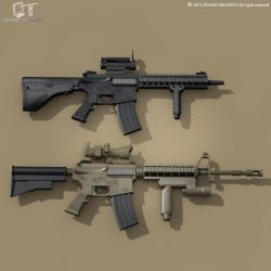 M4 rifle 3d model 3ds dxf fbx c4d dae obj