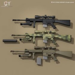 Mk12 sniper rifle 3d model 0