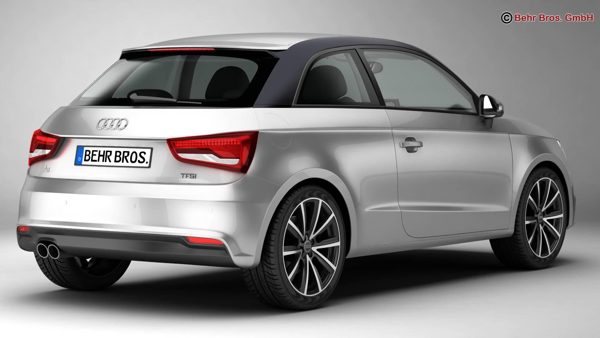 Audi a1 2015 3d model 3ds max fbx c4d am fwy o wybodaeth 214698