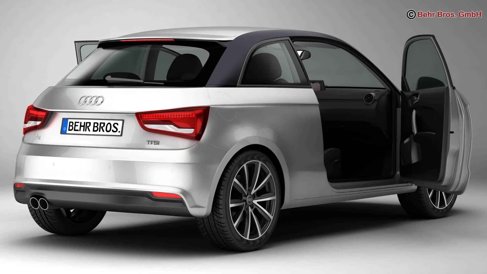 Audi a1 2015 3d model 3ds max fbx c4d am fwy o wybodaeth 214699