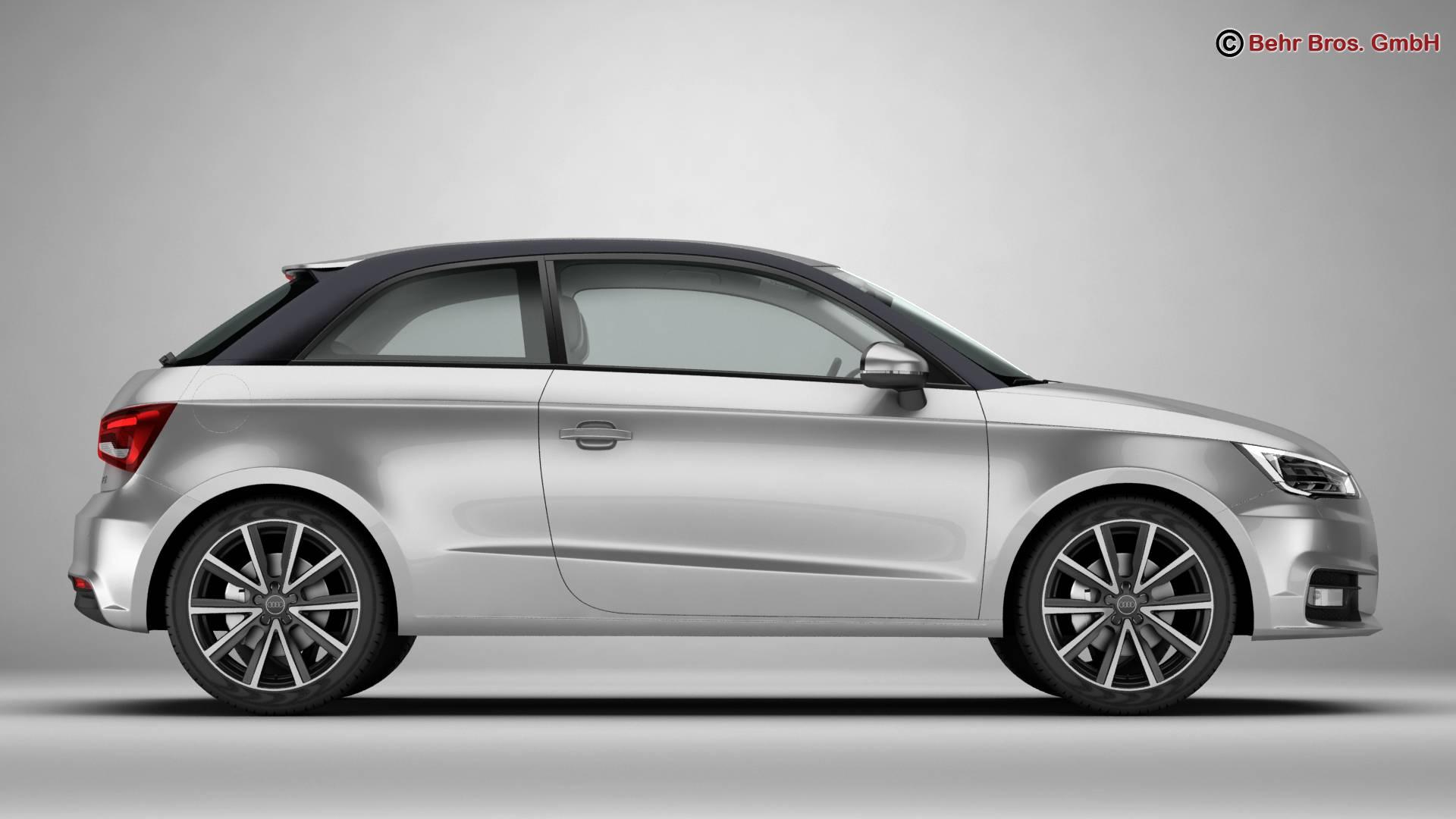 Audi a1 2015 3d model 3ds max fbx c4d am fwy o wybodaeth 214700