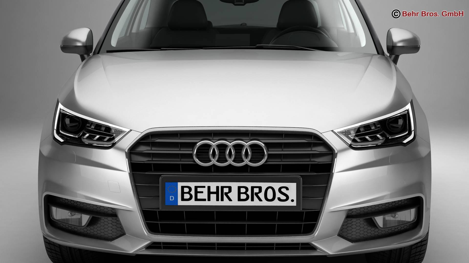 Audi a1 2015 3d model 3ds max fbx c4d am fwy o wybodaeth 214701