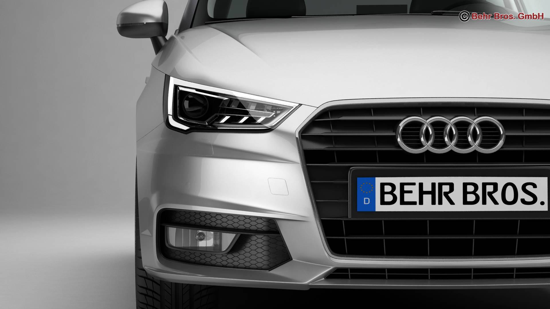 Audi a1 2015 3d model 3ds max fbx c4d am fwy o wybodaeth 214702