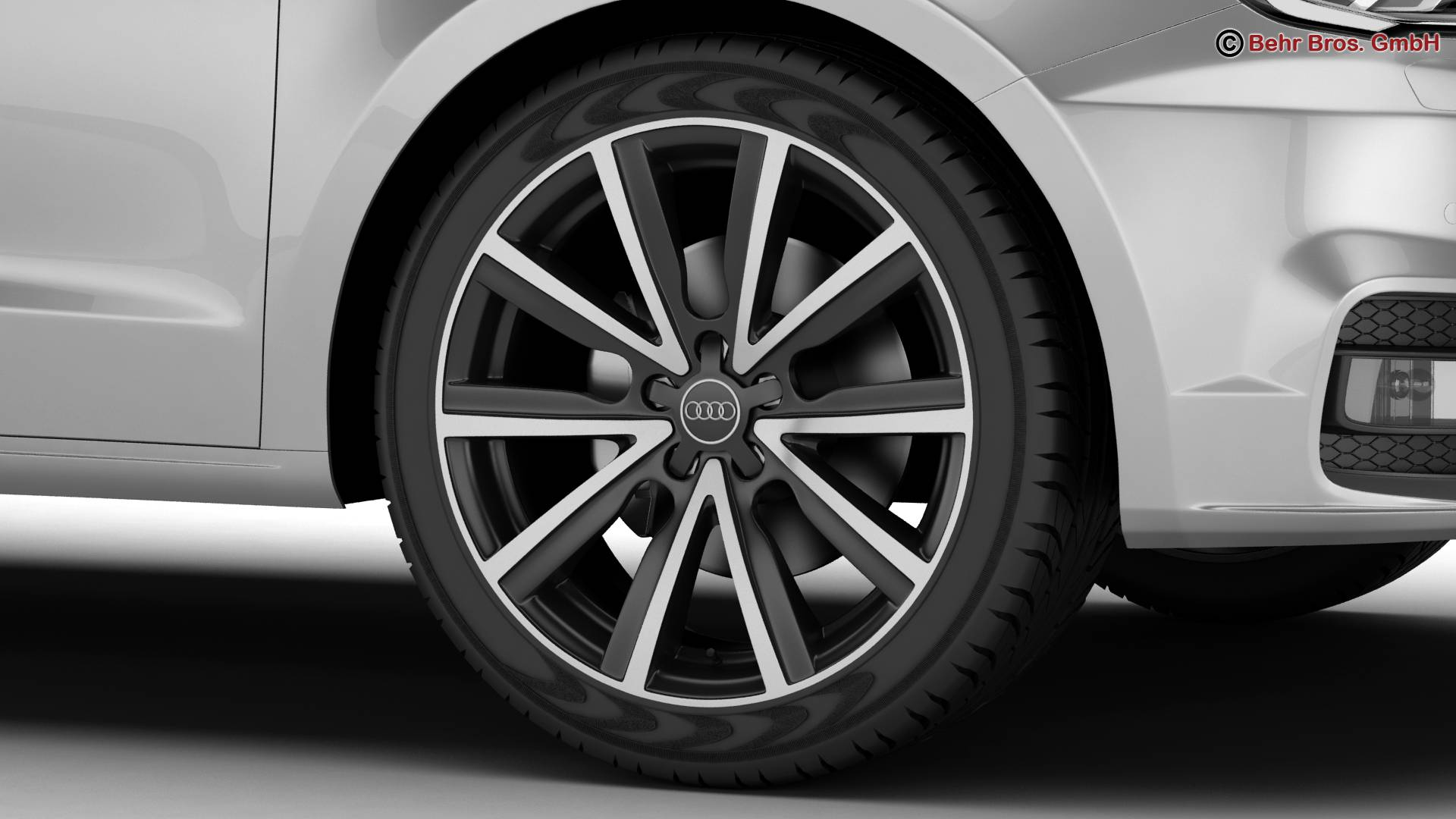 Audi a1 2015 3d model 3ds max fbx c4d am fwy o wybodaeth 214703