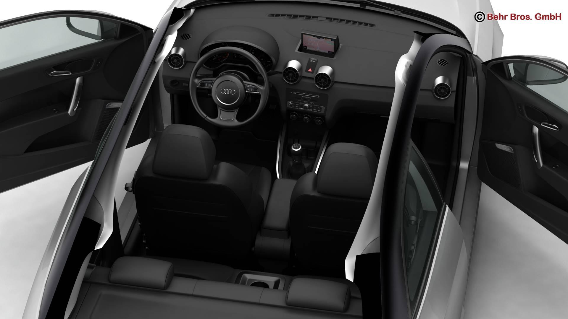 Audi a1 2015 3d model 3ds max fbx c4d am fwy o wybodaeth 214707