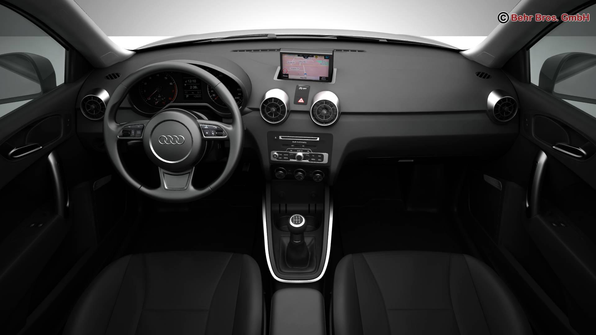 Audi a1 2015 3d model 3ds max fbx c4d am fwy o wybodaeth 214708