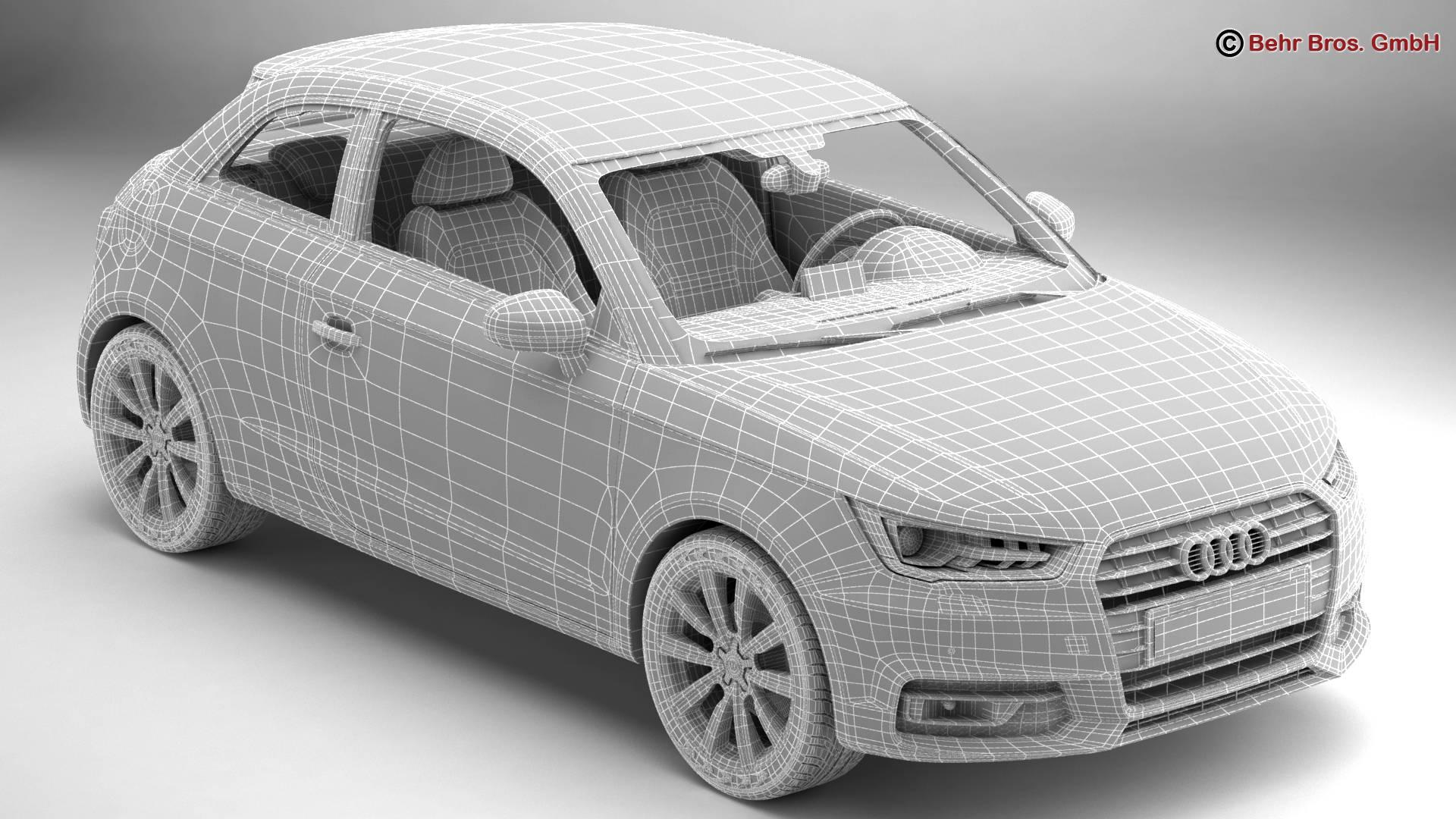 Audi a1 2015 3d model 3ds max fbx c4d am fwy o wybodaeth 214709
