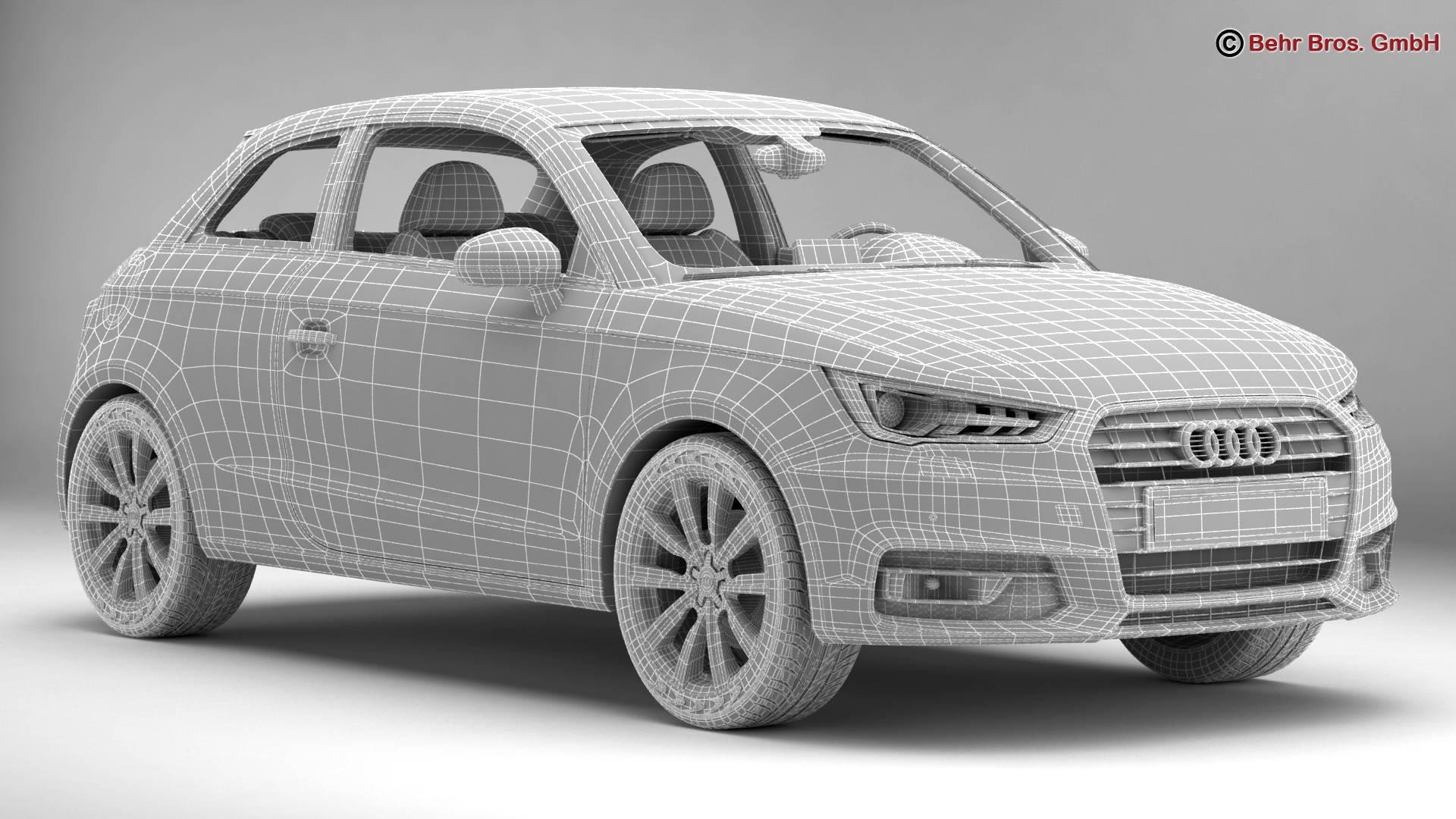 Audi a1 2015 3d model 3ds max fbx c4d am fwy o wybodaeth 214710