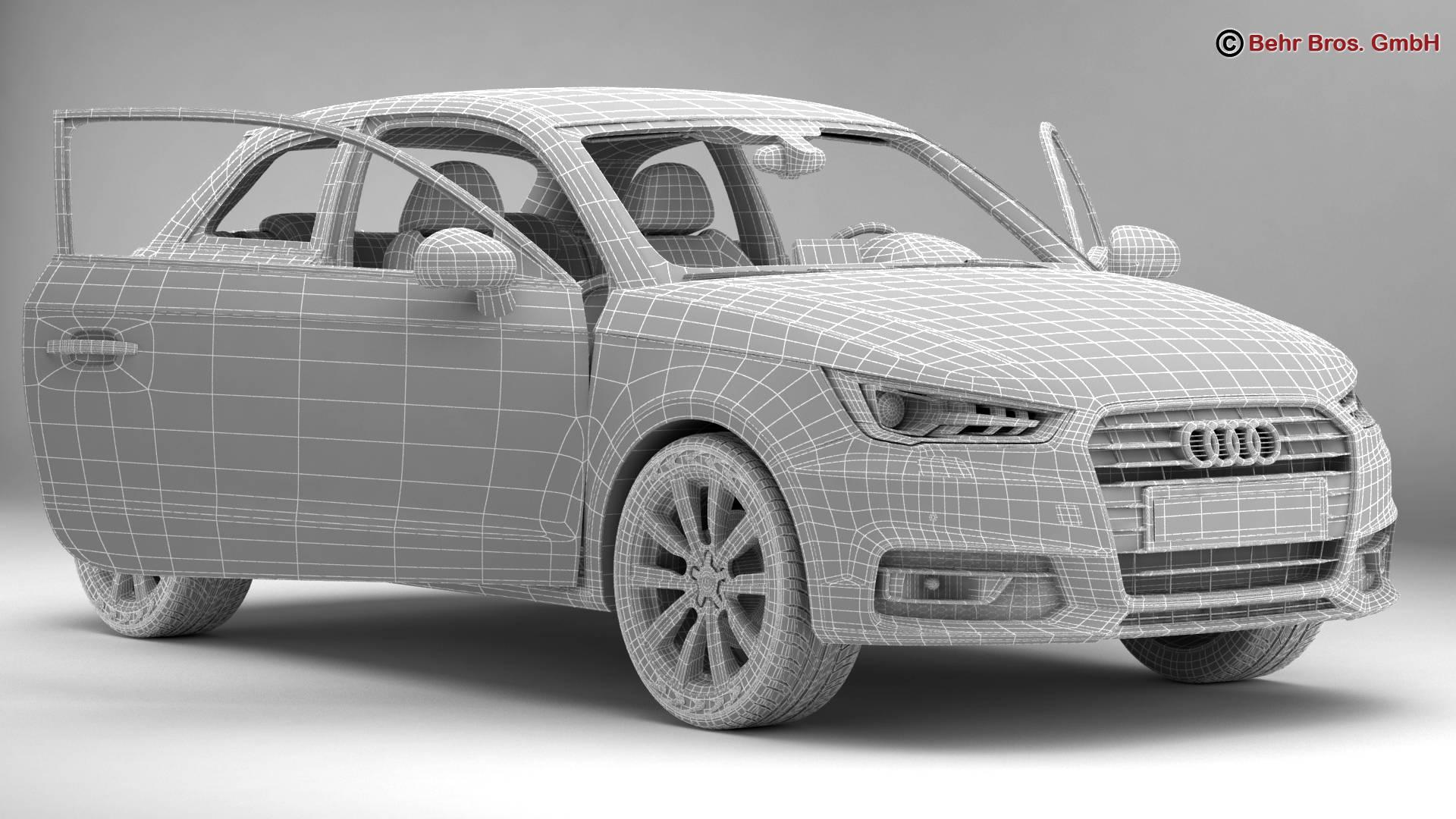 Audi a1 2015 3d model 3ds max fbx c4d am fwy o wybodaeth 214711