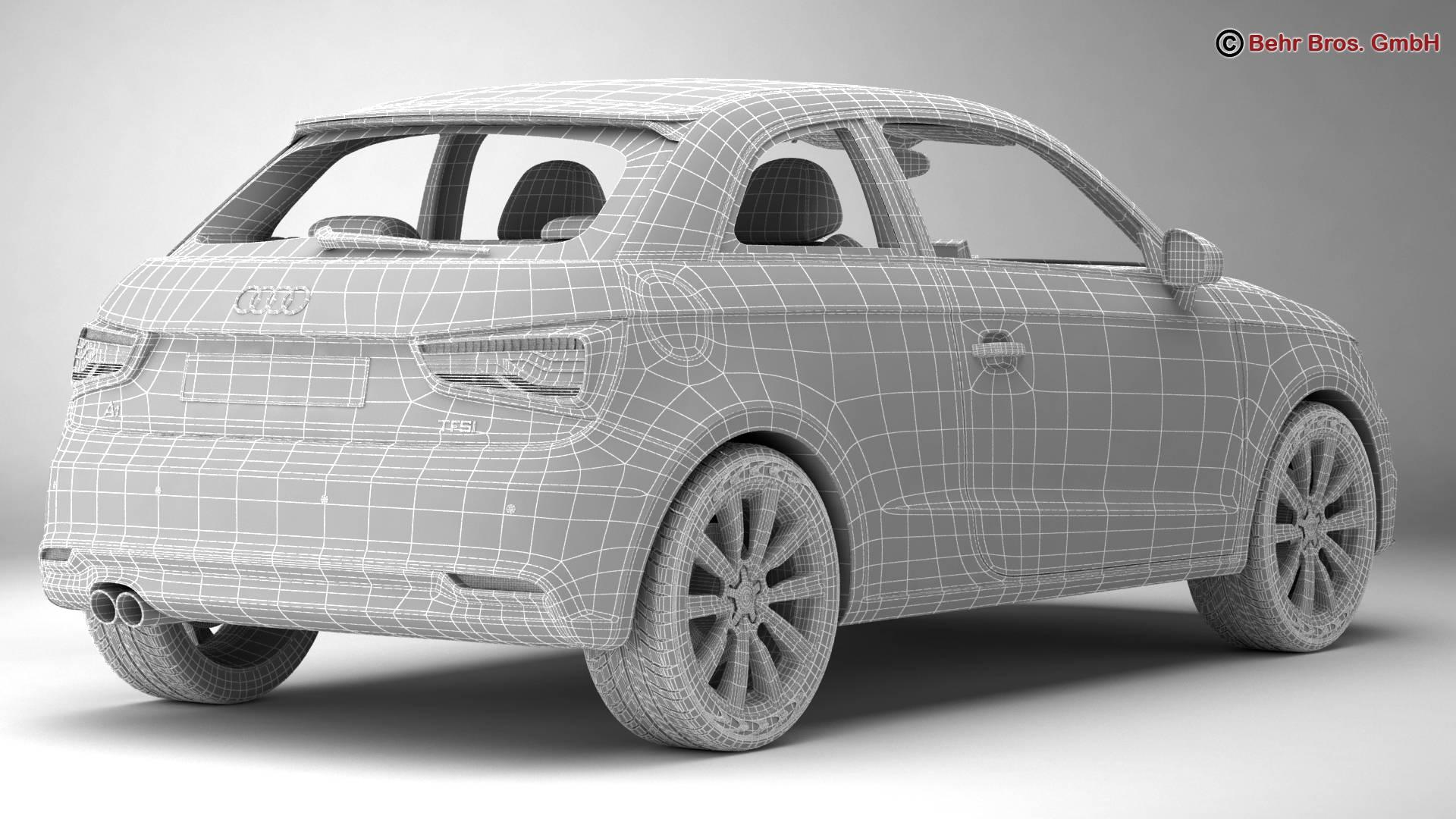 Audi a1 2015 3d model 3ds max fbx c4d am fwy o wybodaeth 214712