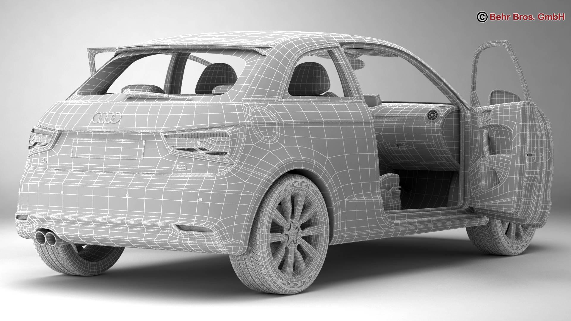 Audi a1 2015 3d model 3ds max fbx c4d am fwy o wybodaeth 214713