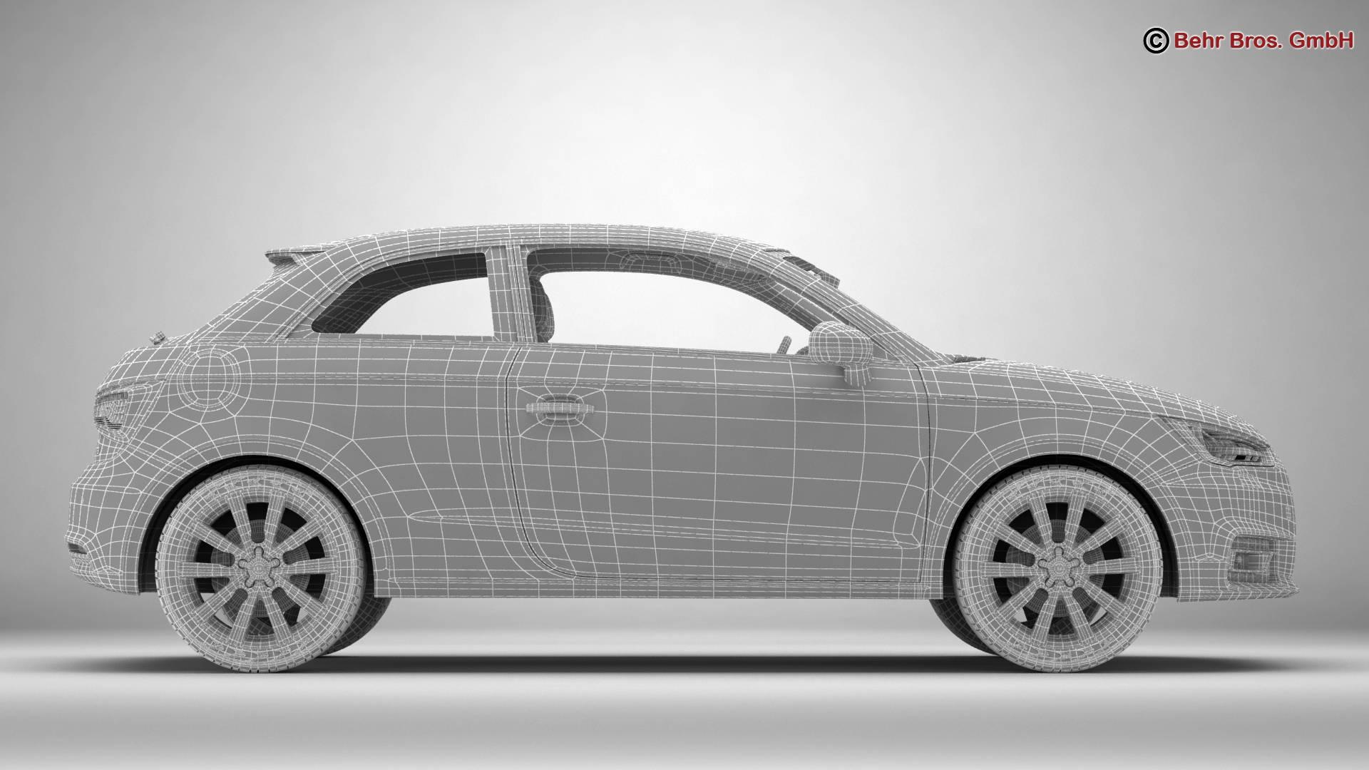 Audi a1 2015 3d model 3ds max fbx c4d am fwy o wybodaeth 214714