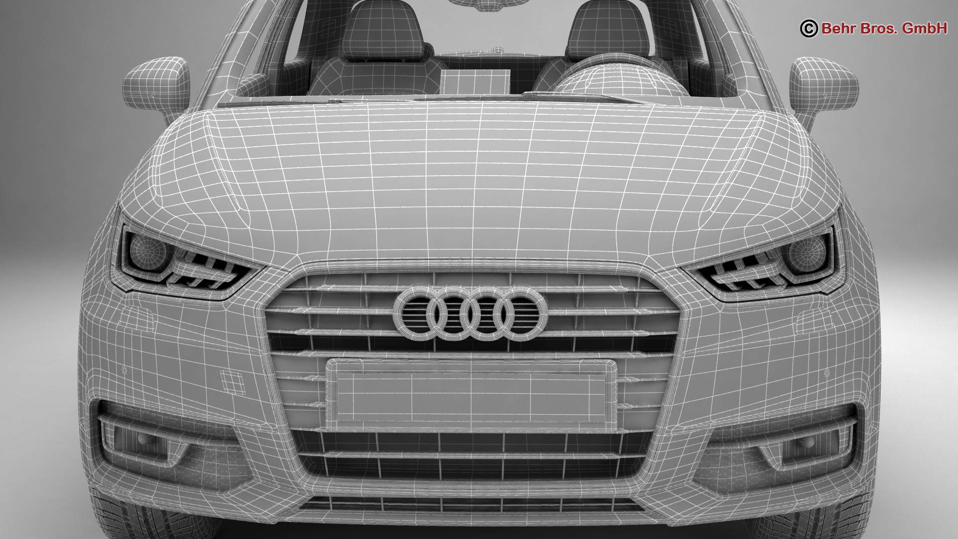Audi a1 2015 3d model 3ds max fbx c4d am fwy o wybodaeth 214715