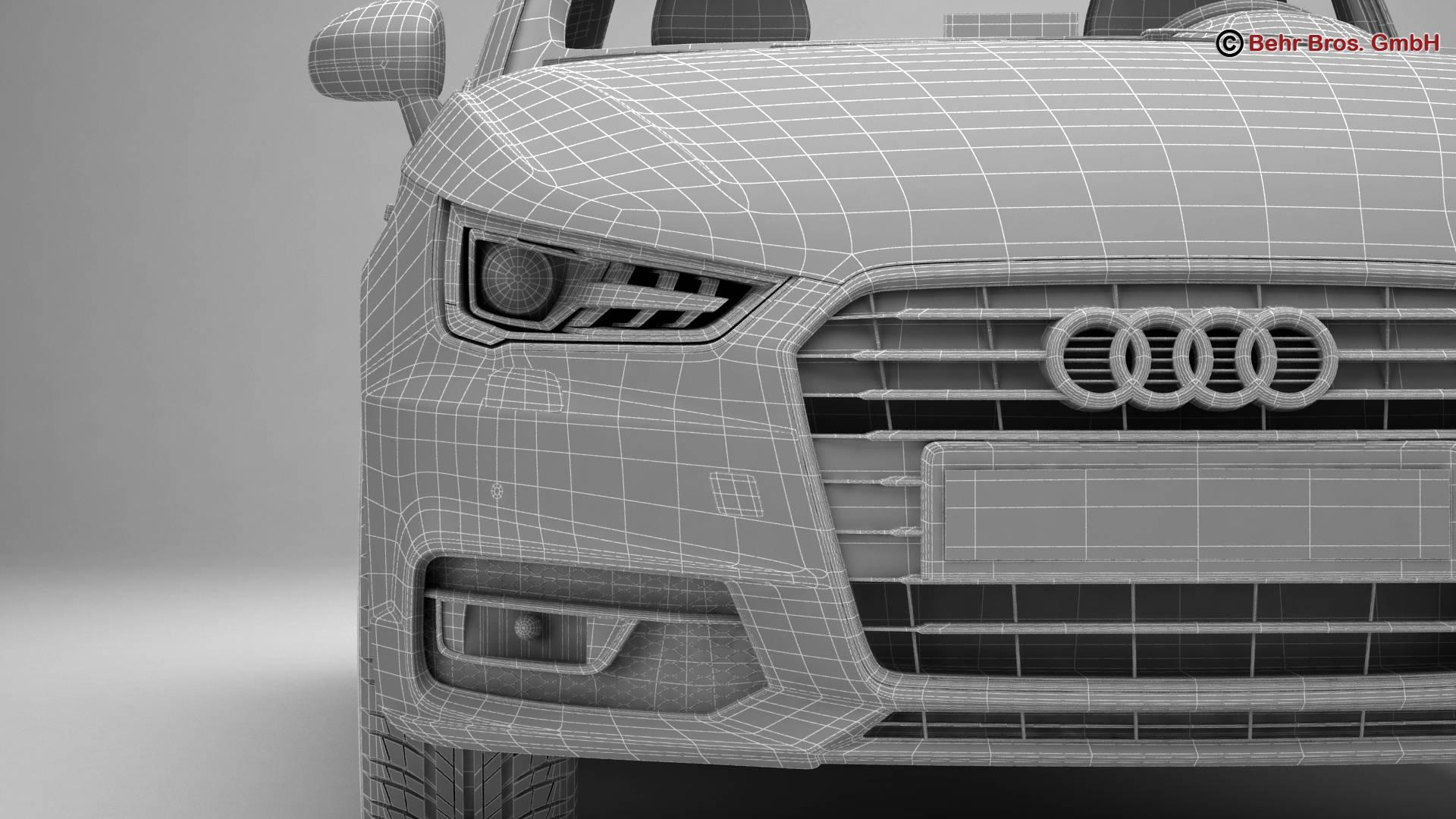 Audi a1 2015 3d model 3ds max fbx c4d am fwy o wybodaeth 214716