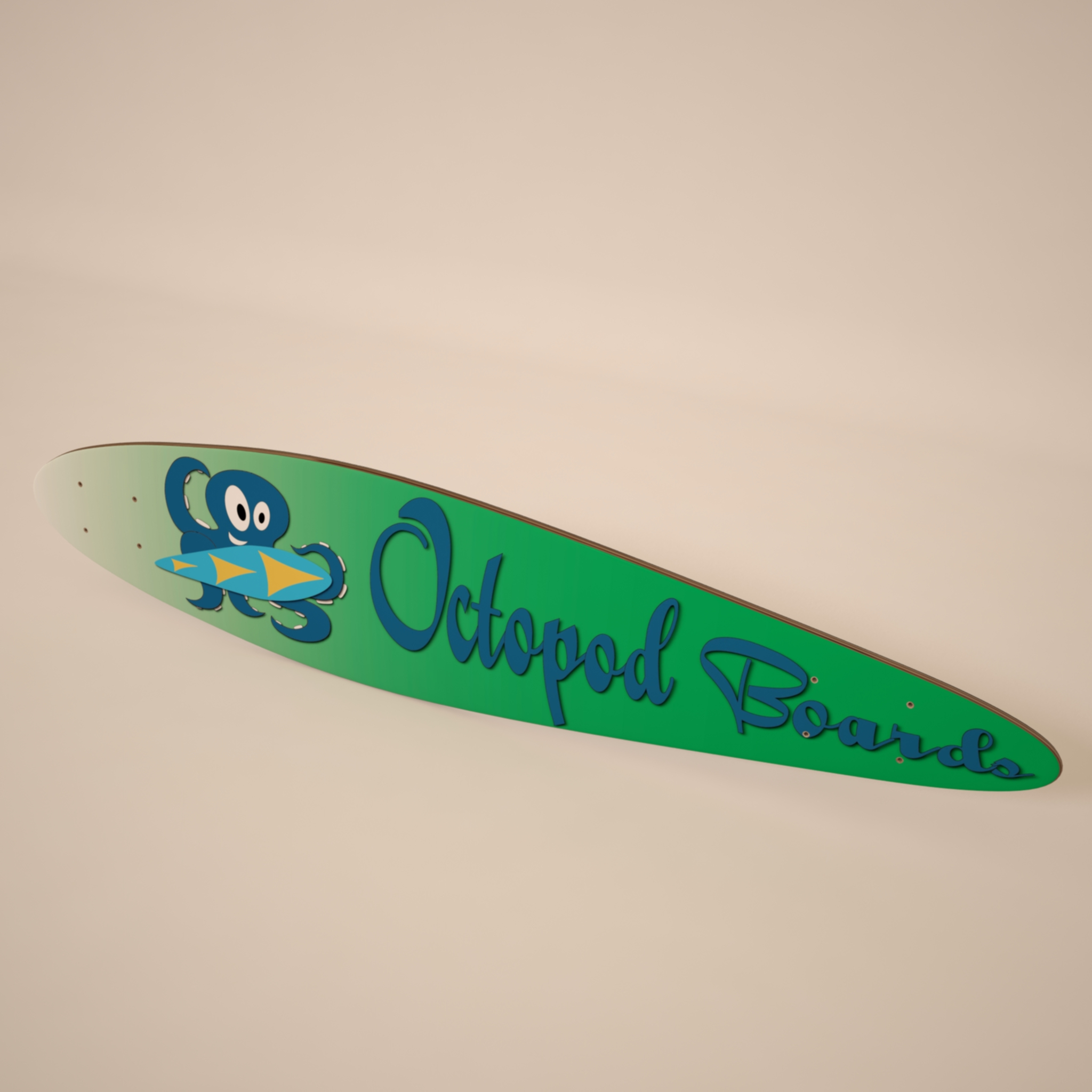 kuvertë longboard 3d model max 214793