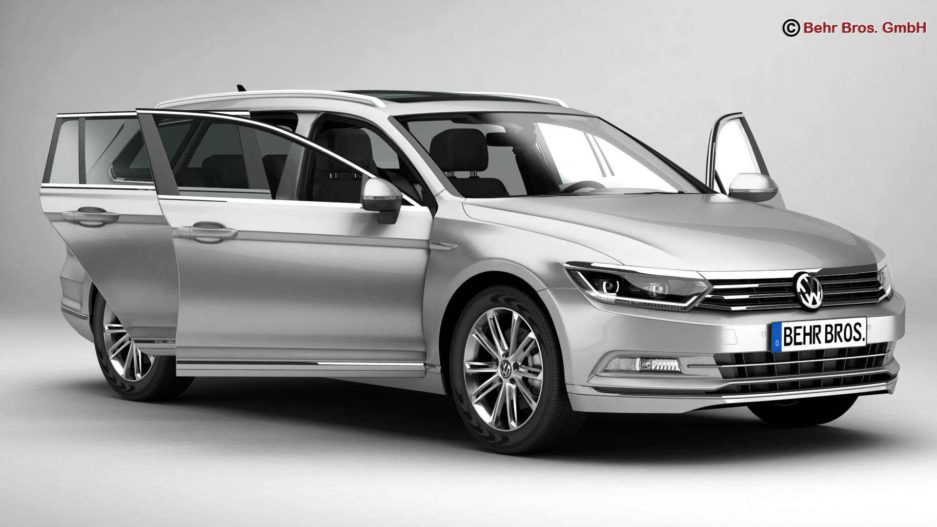 volkswagen passat variant 2015 3d model buy volkswagen. Black Bedroom Furniture Sets. Home Design Ideas