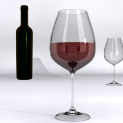 Wine Glass 3d model 0
