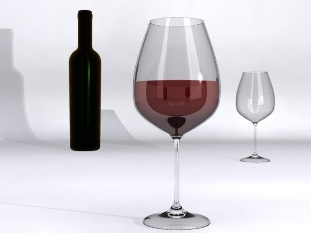 Wine Glass 3d model max fbx obj 214866