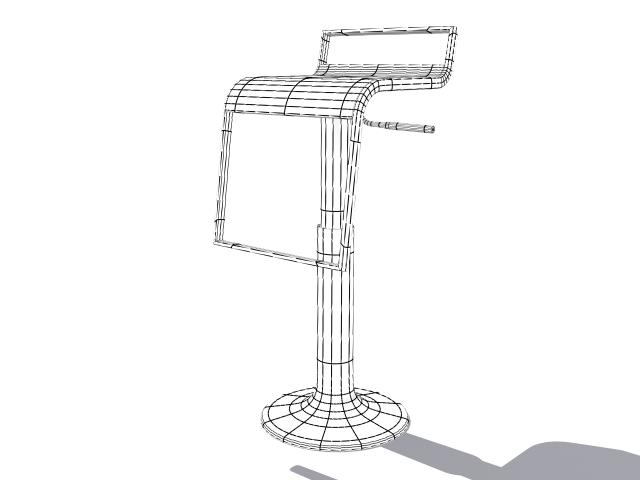 chair bar 3d model max fbx 214877