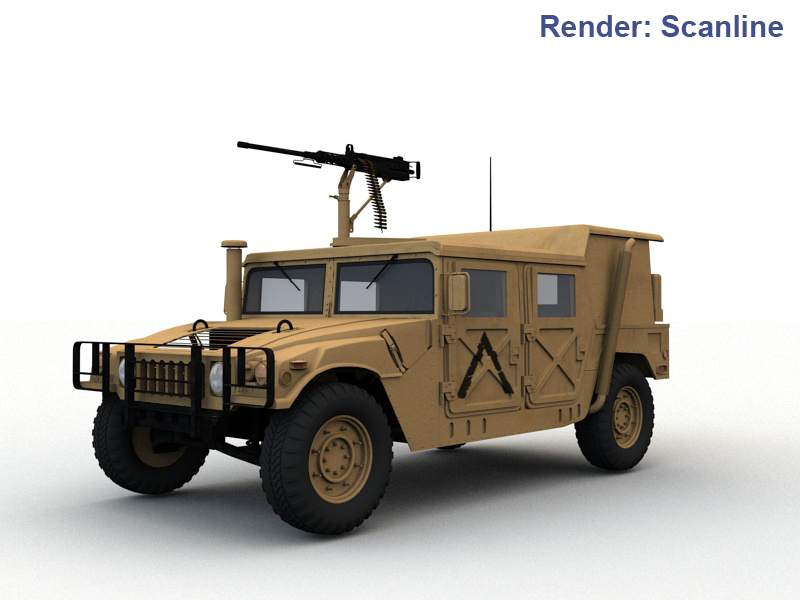 Military vehicles collection 3d model 0