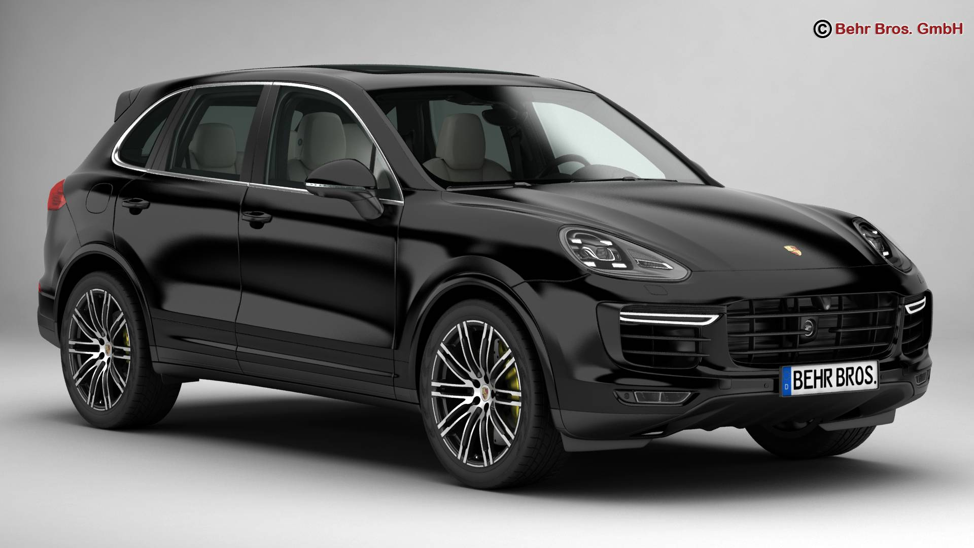 porsche cayenne turbo s 2016 3d model. Black Bedroom Furniture Sets. Home Design Ideas