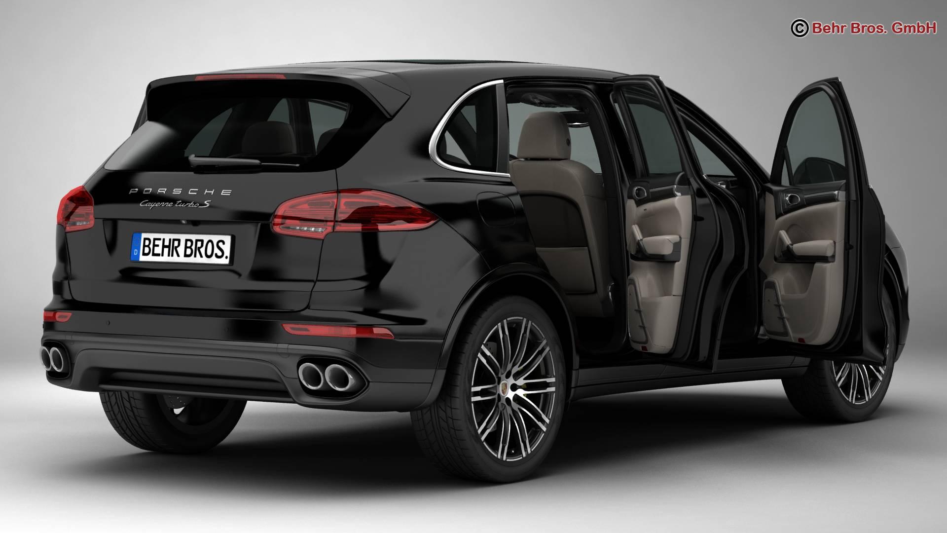 porsche cayenne turbo s 2016 3d model 3ds max fbx c4d lwo ma mb obj 214930