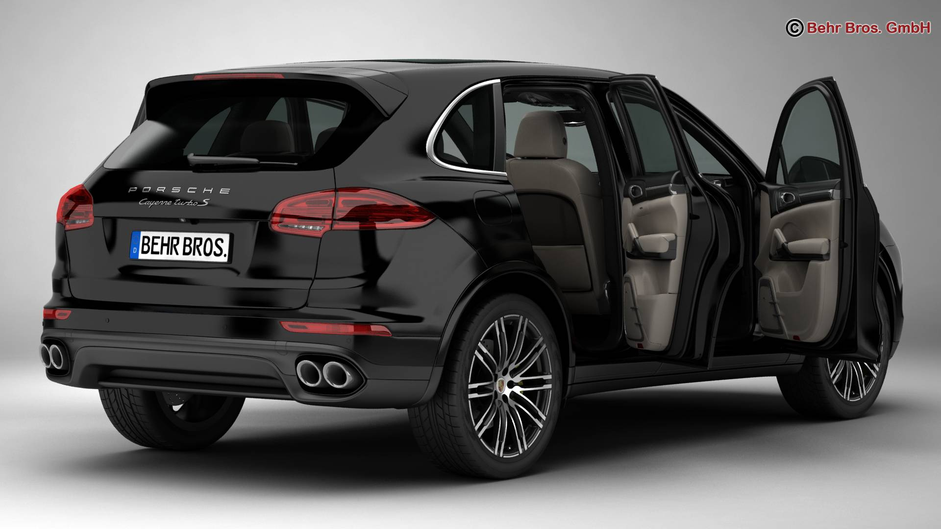 porsche cayenne turbo s 2016 3d model flatpyramid. Black Bedroom Furniture Sets. Home Design Ideas