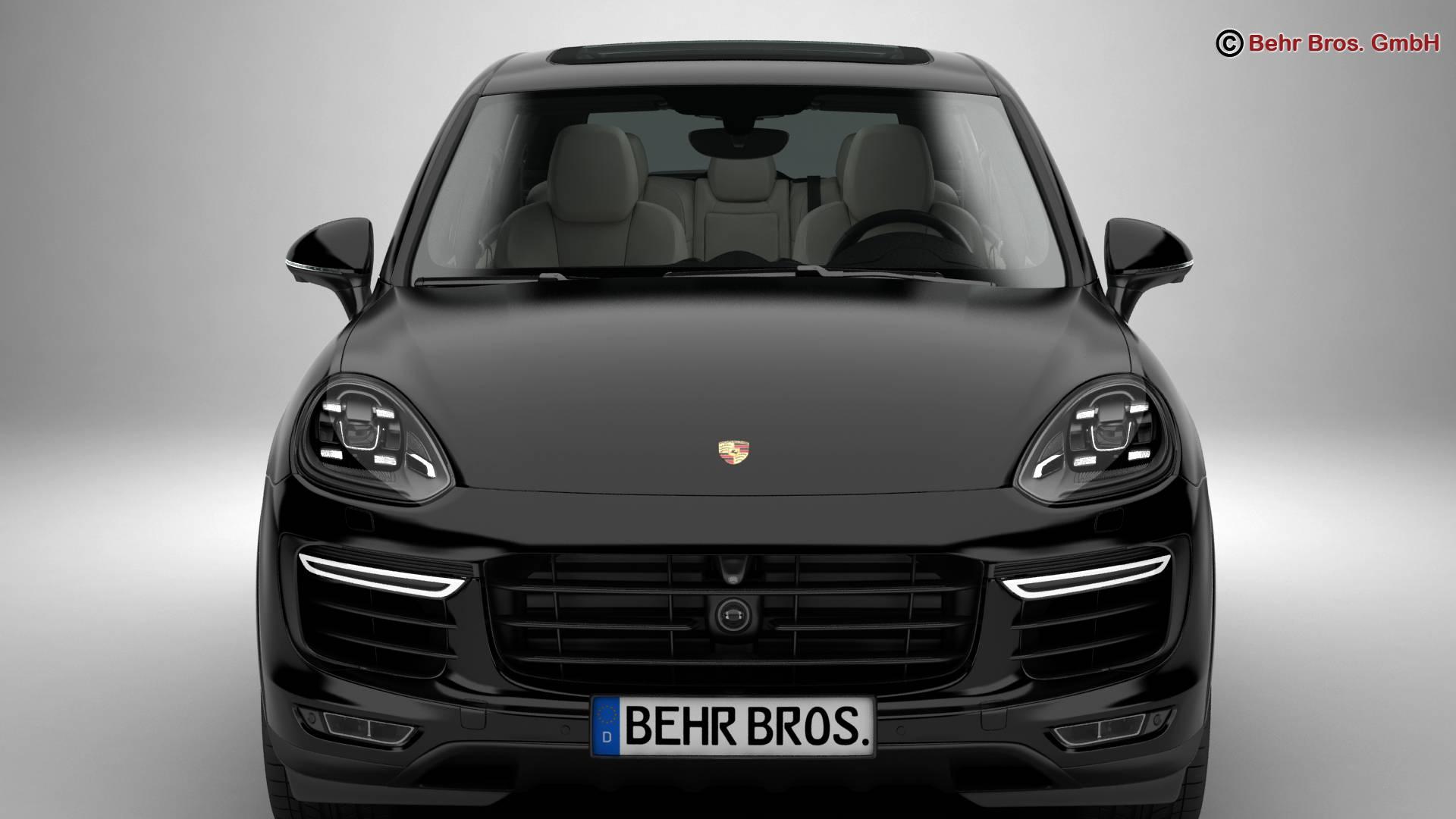 porsche cayenne turbo s 2016 3d model 3ds max fbx c4d lwo ma mb obj 214932