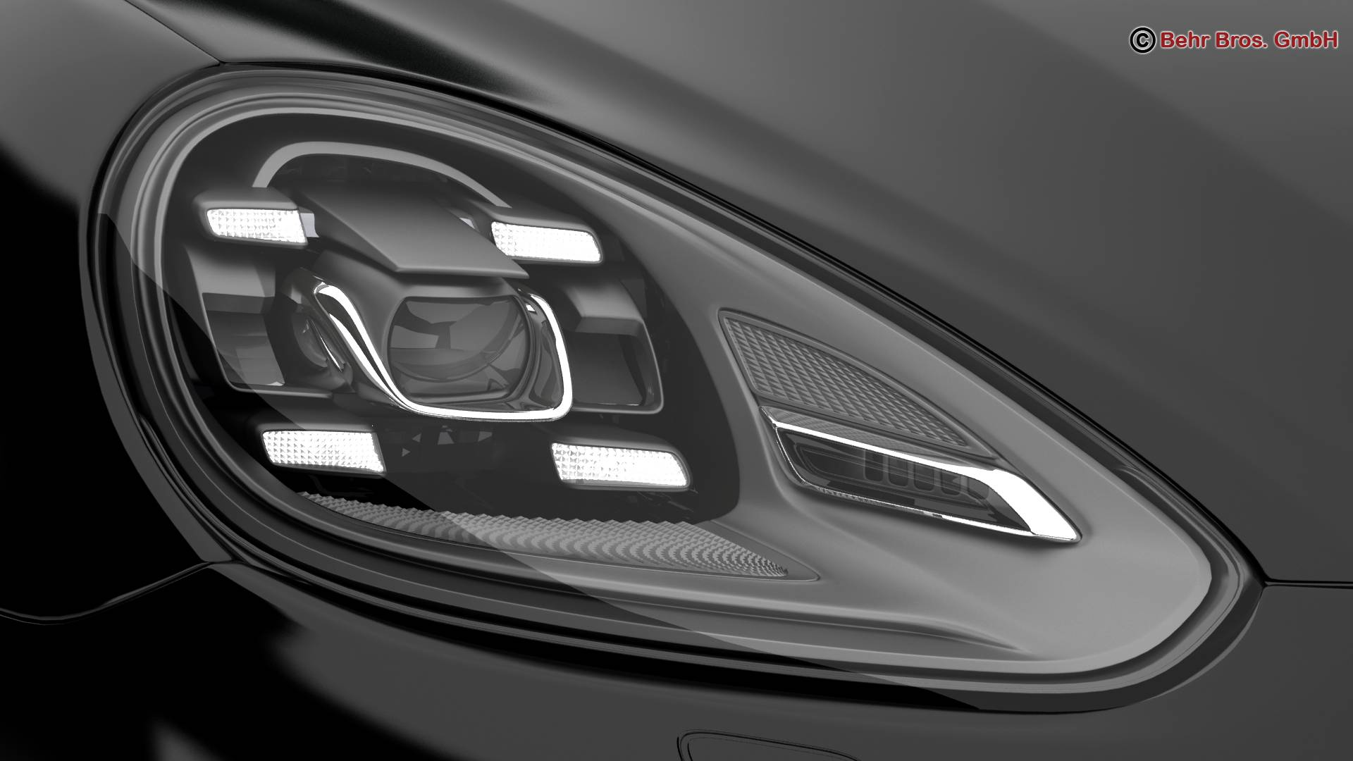 porsche cayenne turbo s 2016 3d model 3ds max fbx c4d lwo ma mb obj 214935