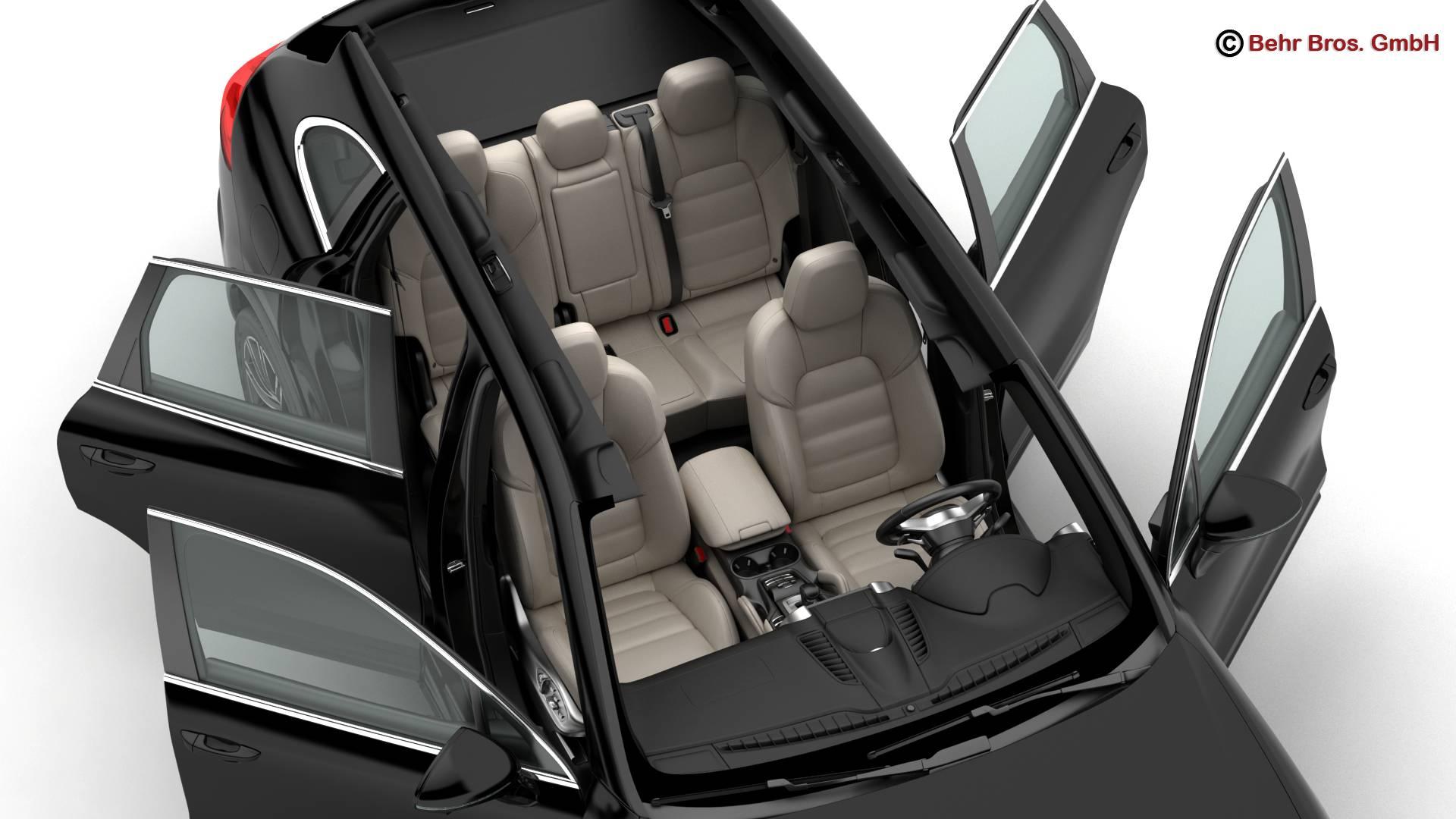 porsche cayenne turbo s 2016 3d model 3ds max fbx c4d lwo ma mb obj 214937