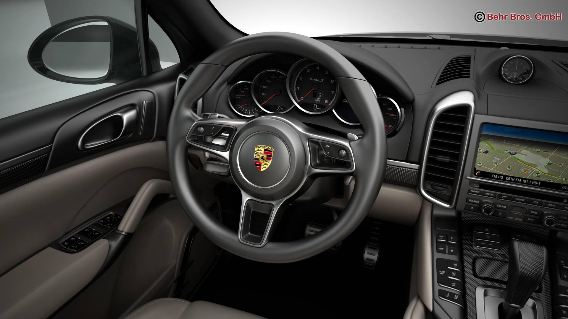 porsche cayenne turbo s 2016 3d model 3ds max fbx c4d lwo ma mb obj 214940