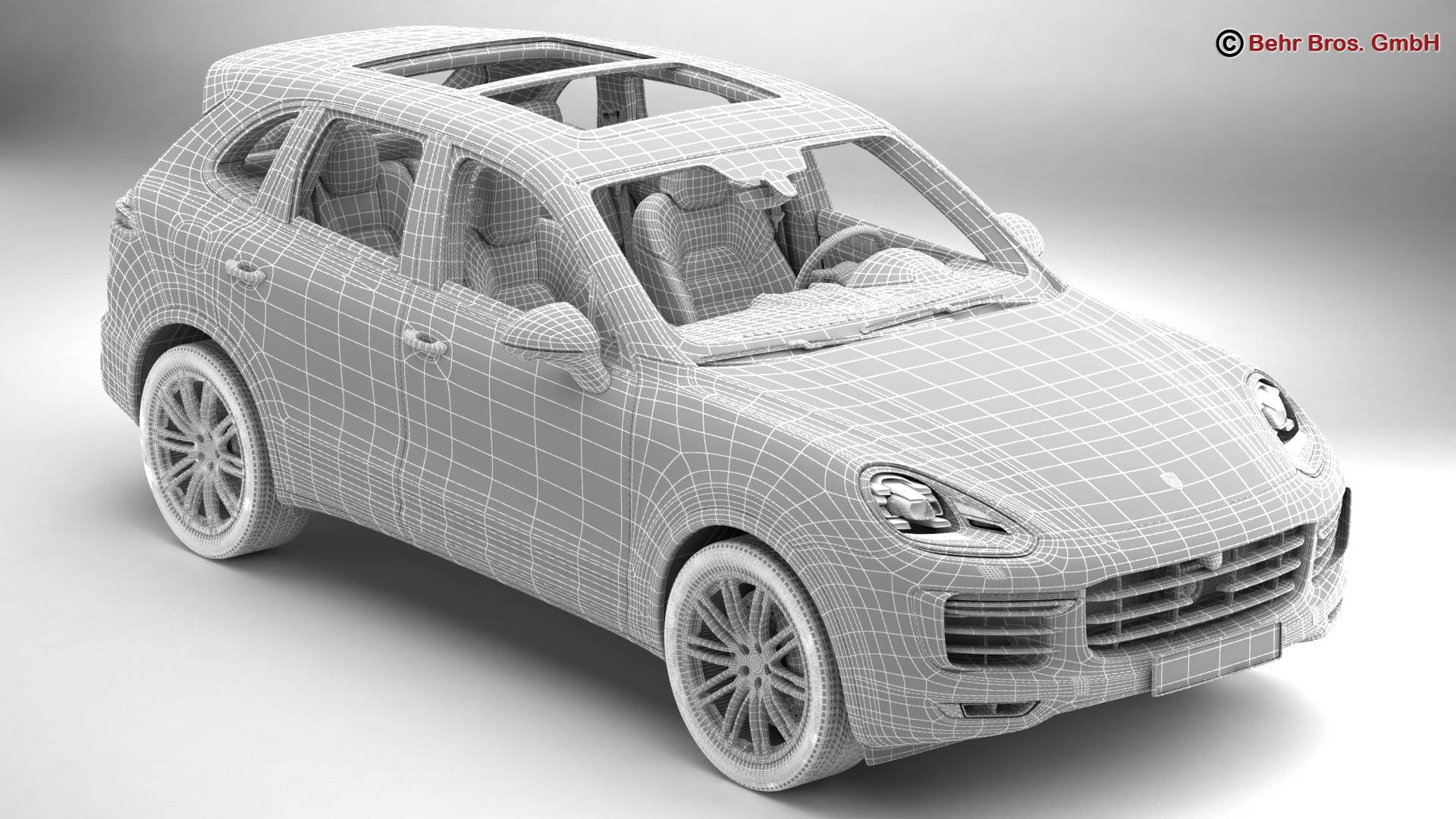 porsche cayenne turbo s 2016 3d model 3ds max fbx c4d lwo ma mb obj 214941