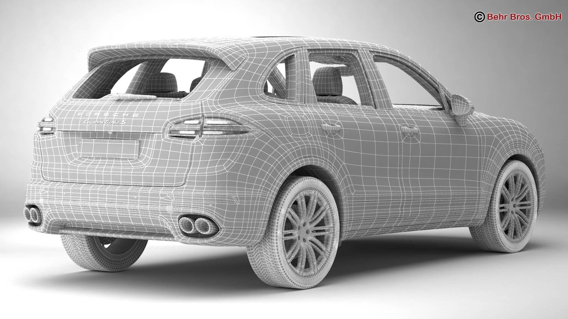 porsche cayenne turbo s 2016 3d model 3ds max fbx c4d lwo ma mb obj 214944
