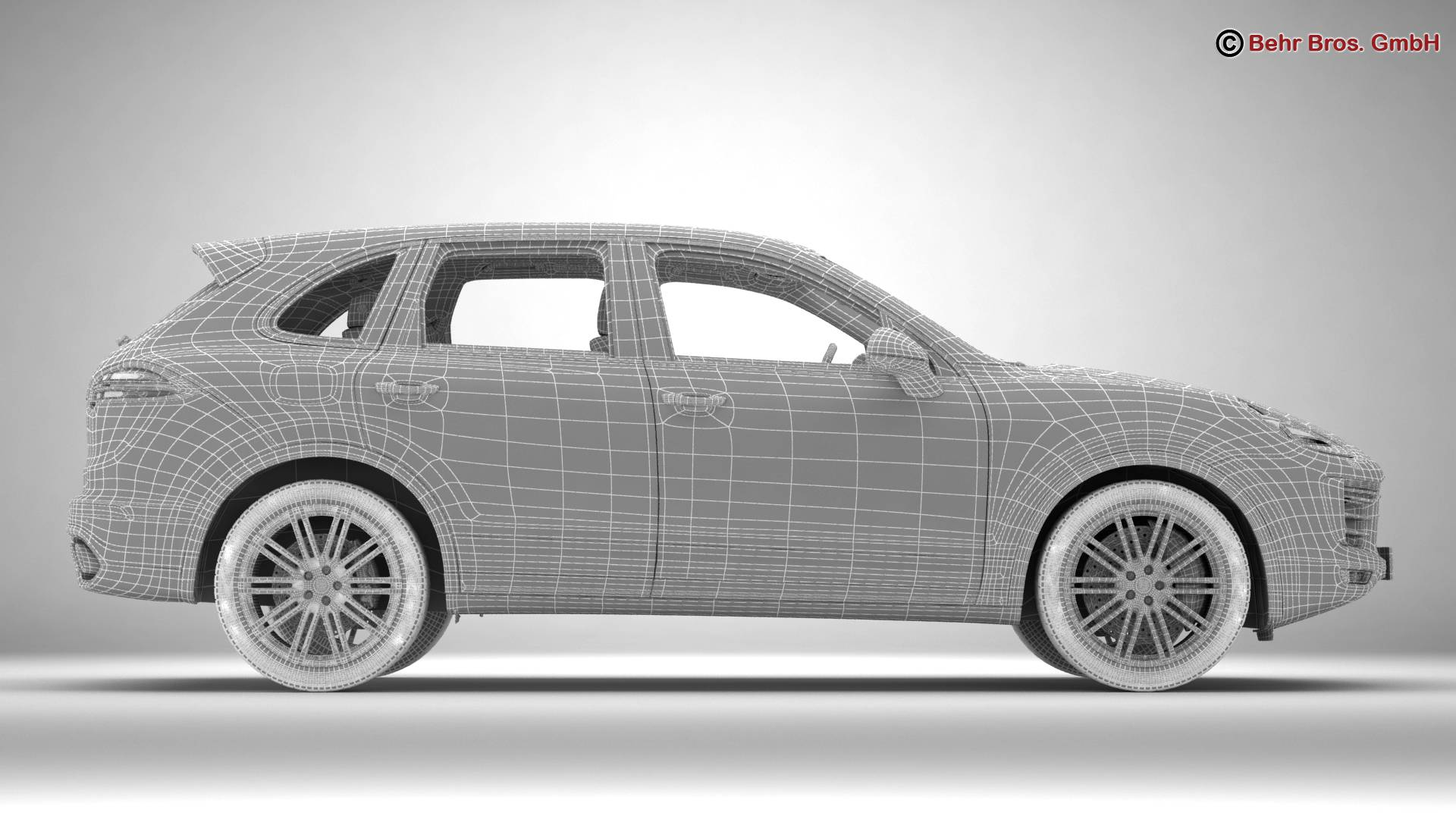 porsche cayenne turbo s 2016 3d model 3ds max fbx c4d lwo ma mb obj 214946